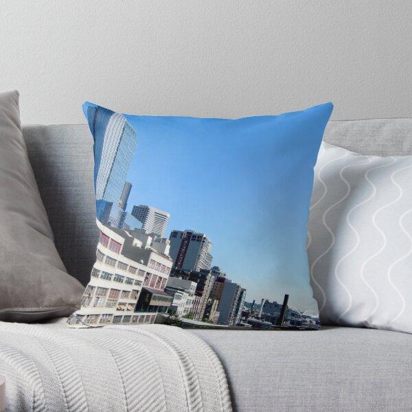 Seattle Blue Throw Pillow