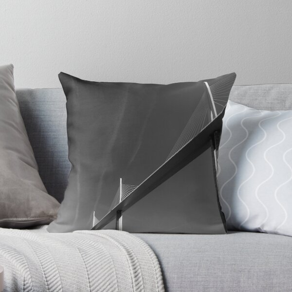 Millau Bridge Throw Pillow