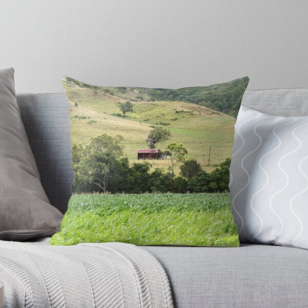 Country Meadows Throw Pillow