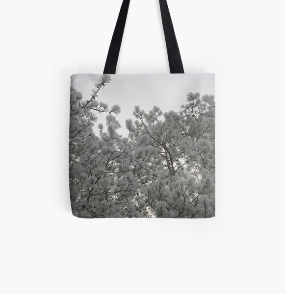 Frosty Pines All Over Print Tote Bag