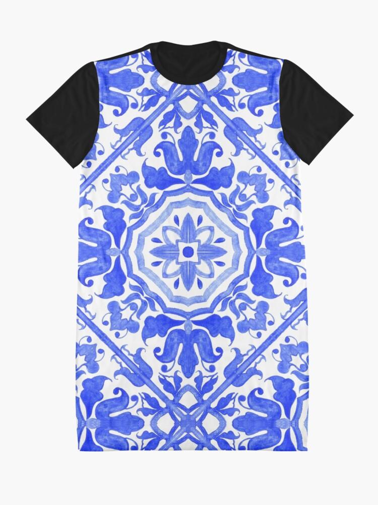 Alternate view of Portuguese azulejo tiles.  Graphic T-Shirt Dress
