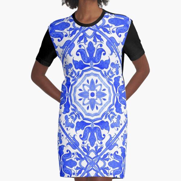 Portuguese azulejo tiles.  Graphic T-Shirt Dress