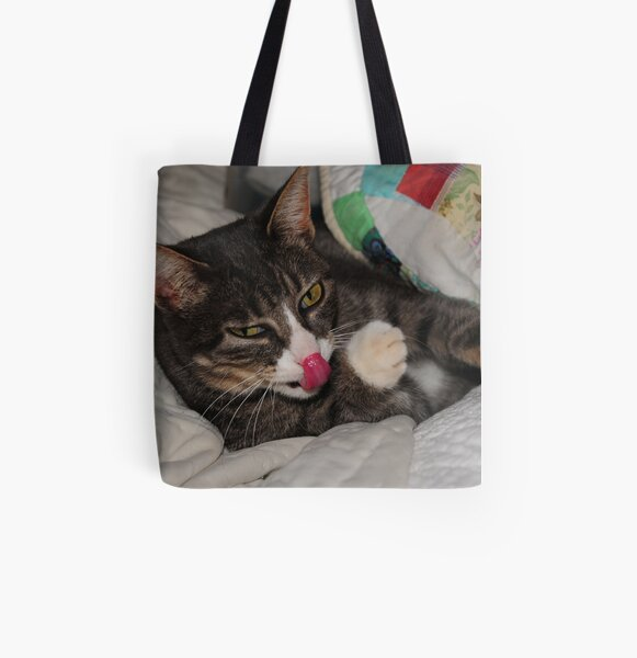 I Can Touch My Nose All Over Print Tote Bag