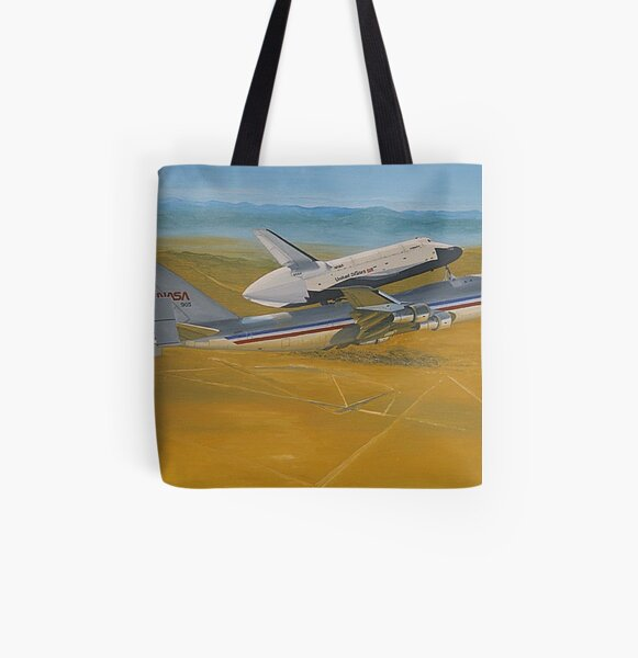 NASA Space Shuttle Enterprise All Over Print Tote Bag