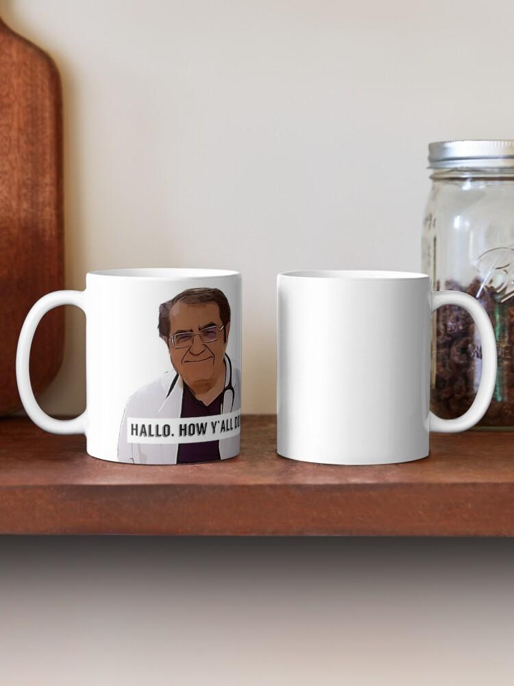 Alternate view of Dr Now - Hallo, how ya all doin, digital artwork Mug