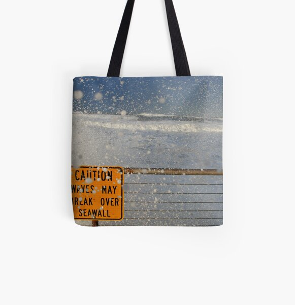 Pacifica Seawall All Over Print Tote Bag