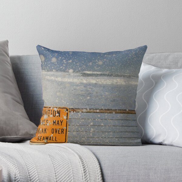 Pacifica Seawall Throw Pillow