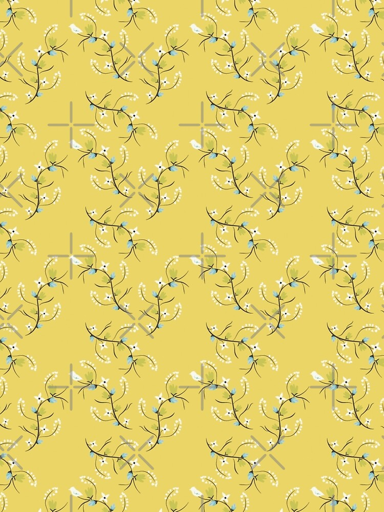 Spring Yellow Floral by CreativeContour