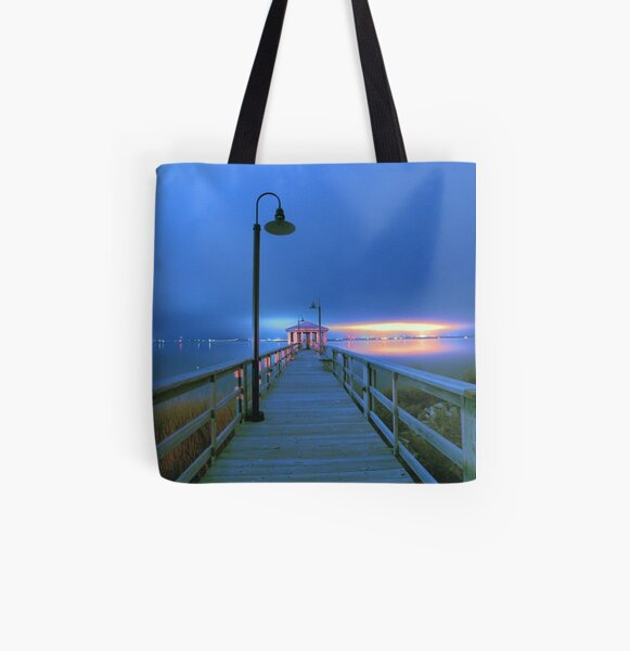 blue nights All Over Print Tote Bag