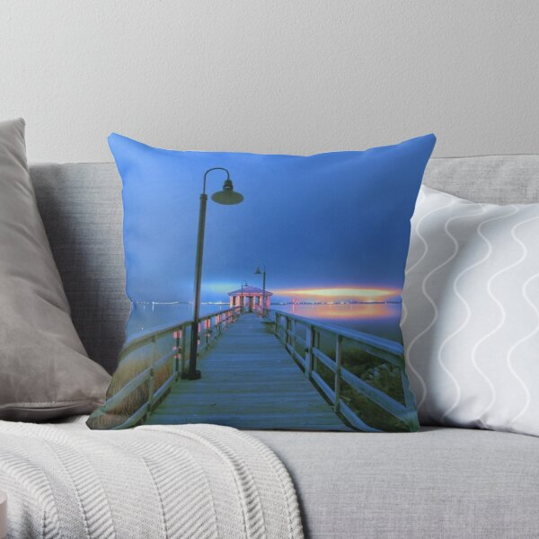 blue nights Throw Pillow