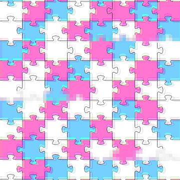 aesthetic puzzle pattern by FandomizedRose