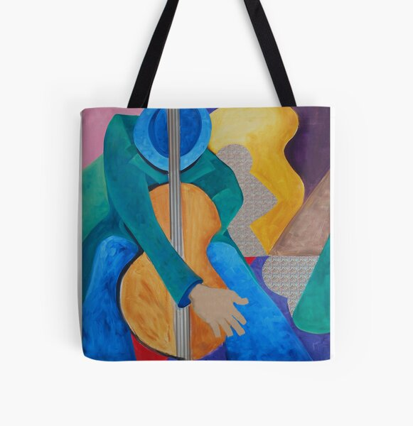 My Uncle's Jazz All Over Print Tote Bag