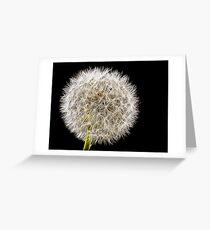 Shhmoking Dandelion Greeting Card