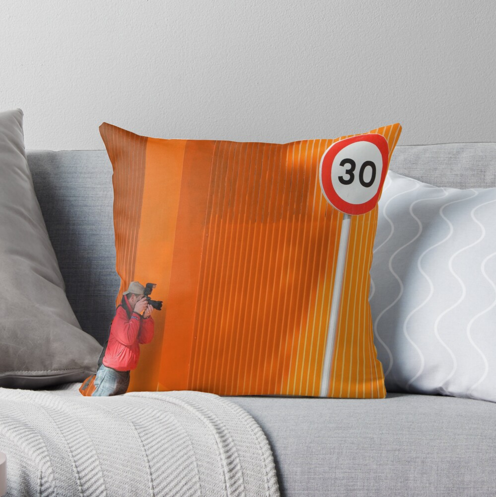 In Search of Orange  Throw Pillow