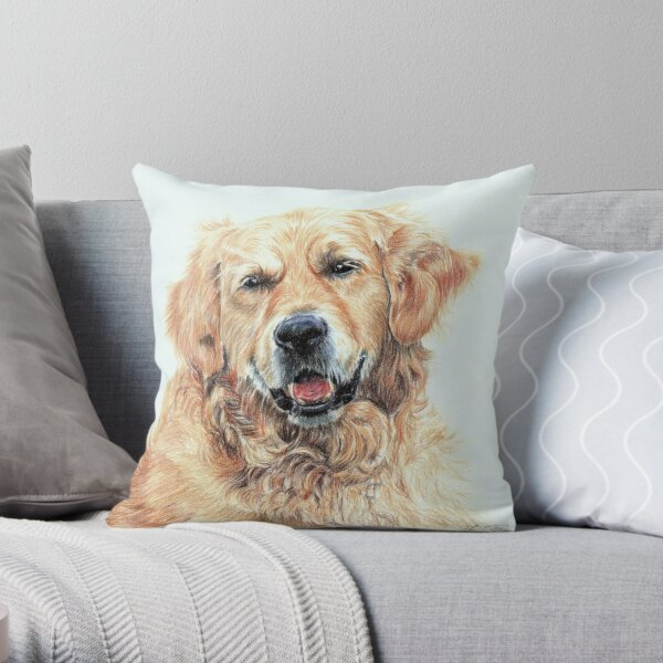 Retriever Throw Pillow
