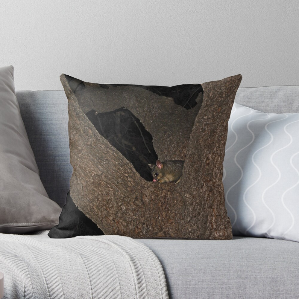 Hello Possum Throw Pillow