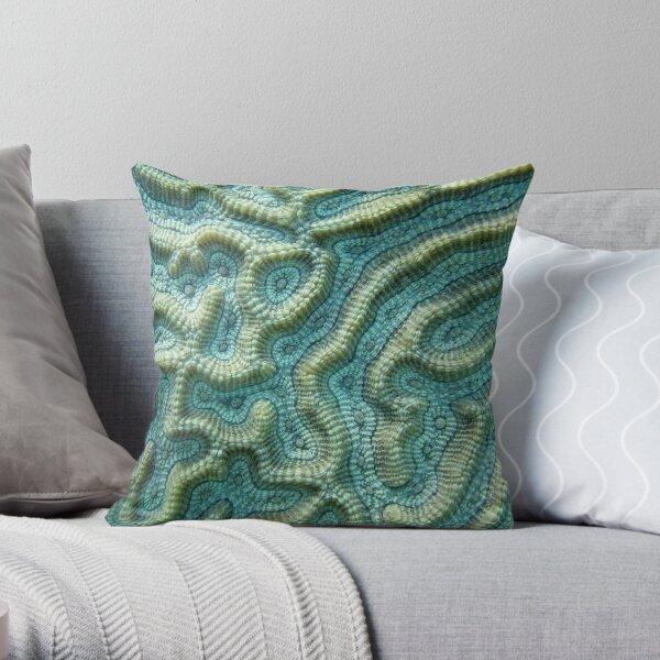 Platygyra Maze Throw Pillow