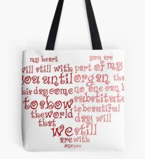 speaking heart Tote Bag