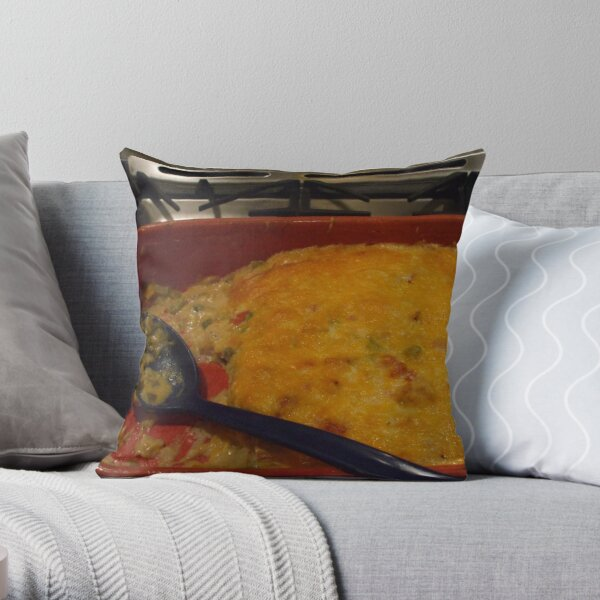KING RANCH CHICKEN  ( recipe posted ) Throw Pillow