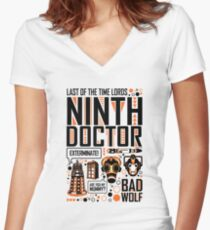 The Ninth Doctor Women's Fitted V-Neck T-Shirt