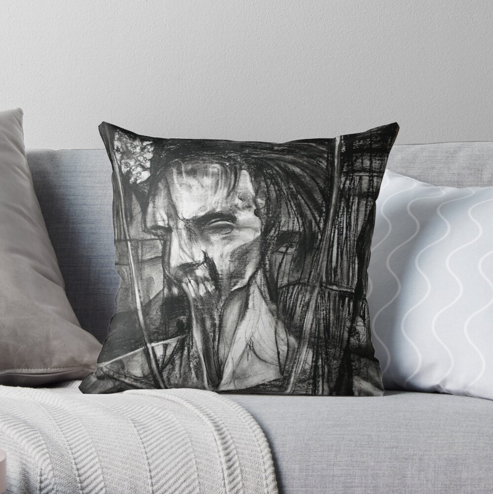 self portrait as sung by Dulli Throw Pillow