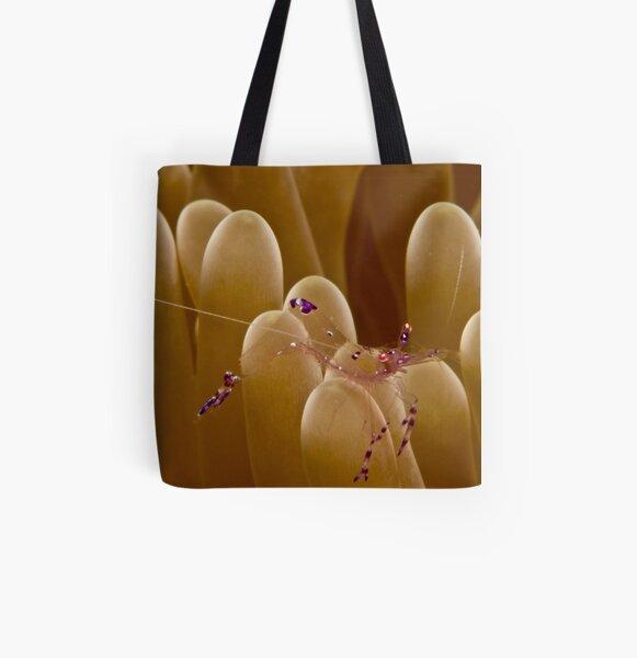 Anemone Shrimp All Over Print Tote Bag