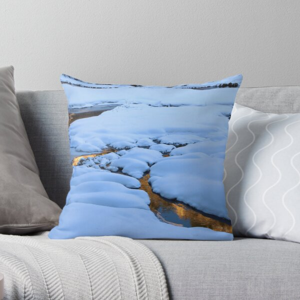 Mounds and Mirrors Throw Pillow