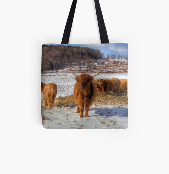 Scottish Highland Cattle All Over Print Tote Bag