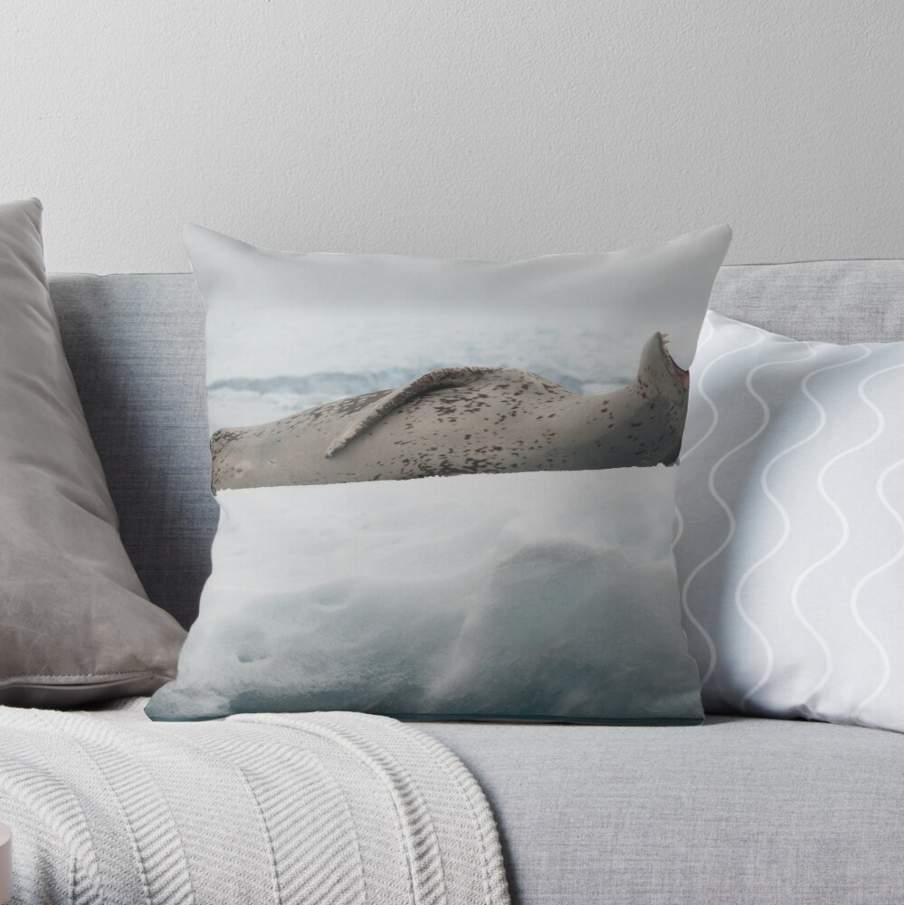 Leopard Seal Throw Pillow