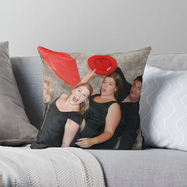 Silly Wind Quartet Throw Pillow