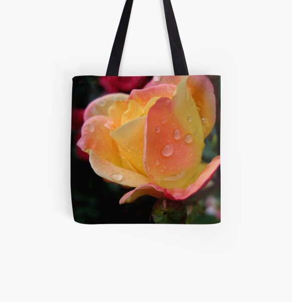 raindrops on roses All Over Print Tote Bag