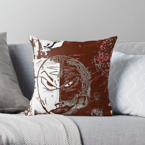 portrait of an all american Throw Pillow