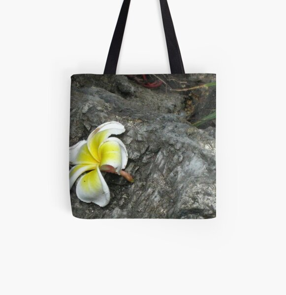 A Fallen Flower at Wat Pho All Over Print Tote Bag