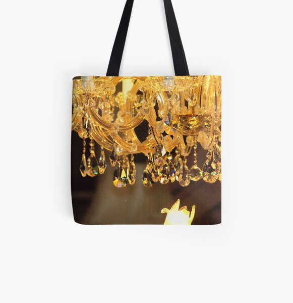 Crystal Chandelier All Over Print Tote Bag