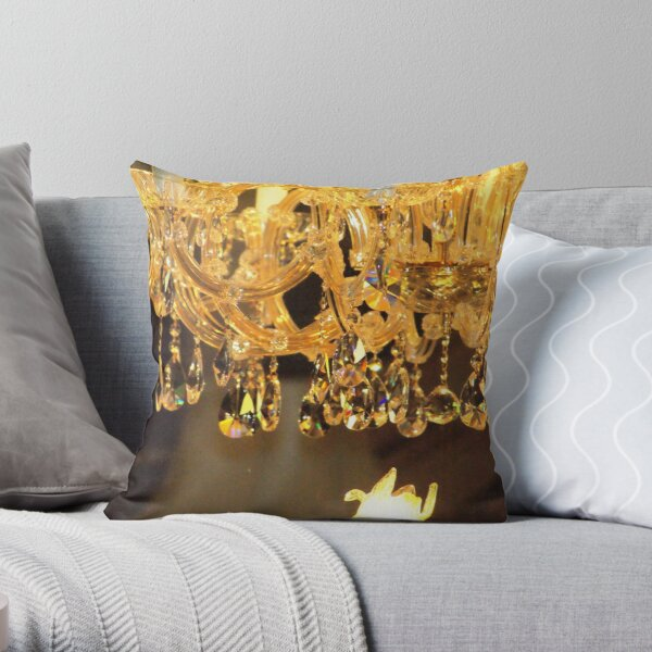 Crystal Chandelier Throw Pillow