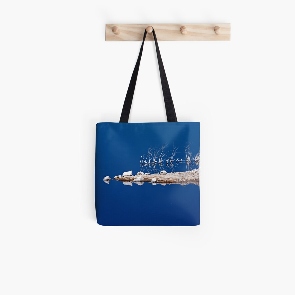 Salt Twigs Floating in an Island of Blue Tote Bag