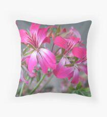 Crackling Geraniums Throw Pillow