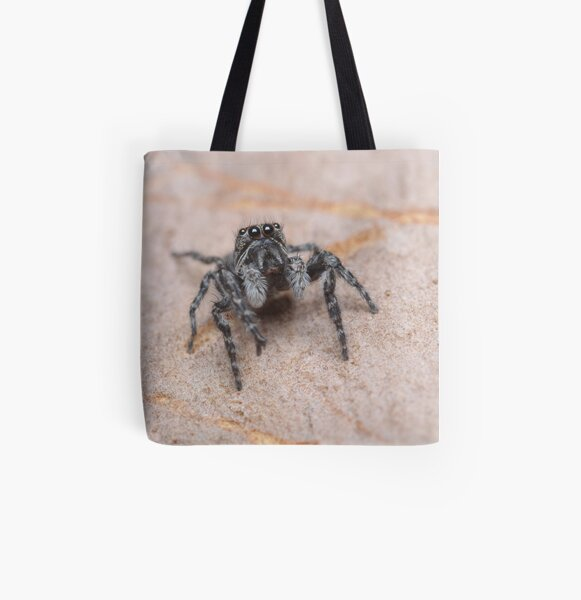 Tiny Jumping Spider All Over Print Tote Bag