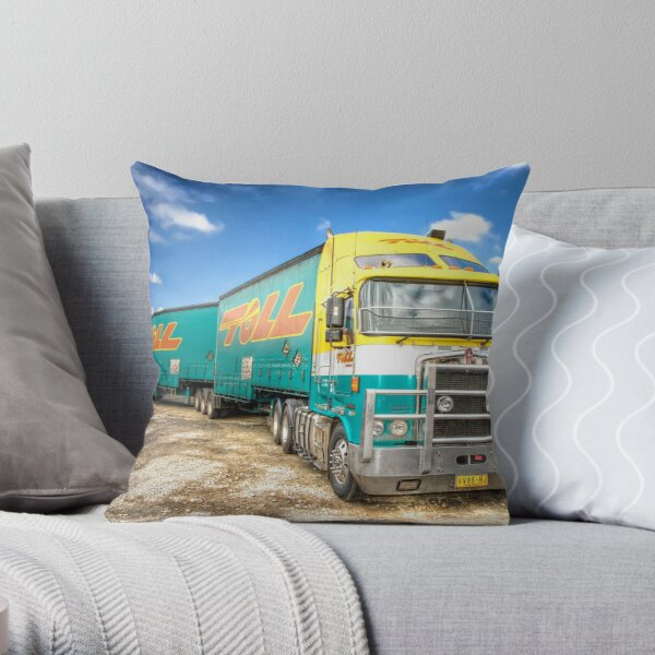 Toll Linehaul. Throw Pillow