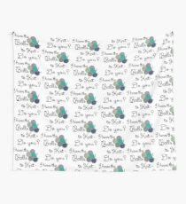 Balls 2 knit - teal Wall Tapestry