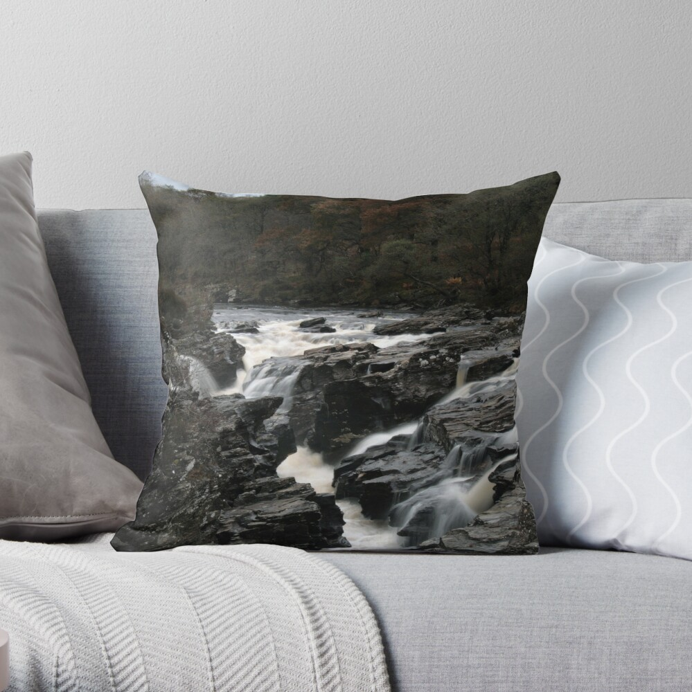 Falls  of  Orchy Throw Pillow