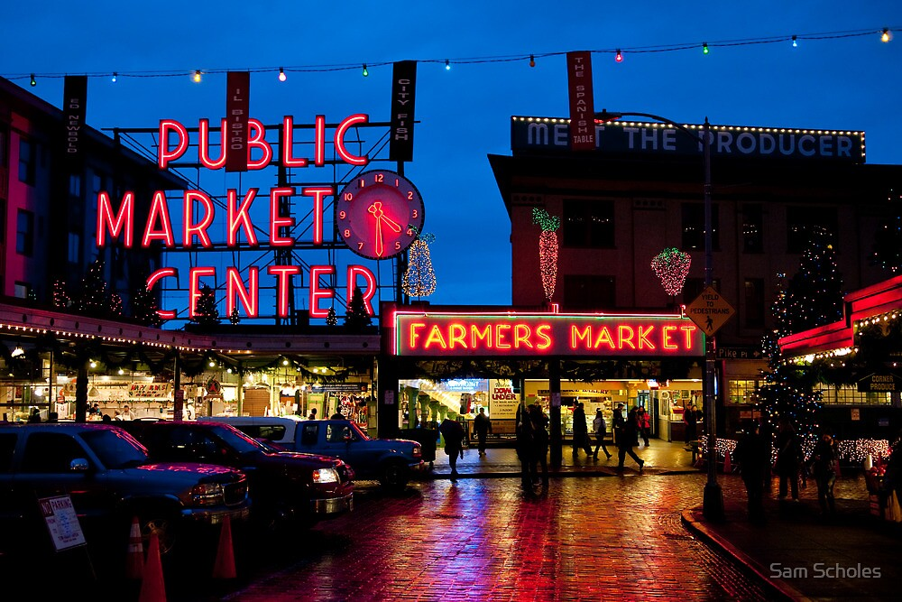 Pike Place Market by Sam Scholes