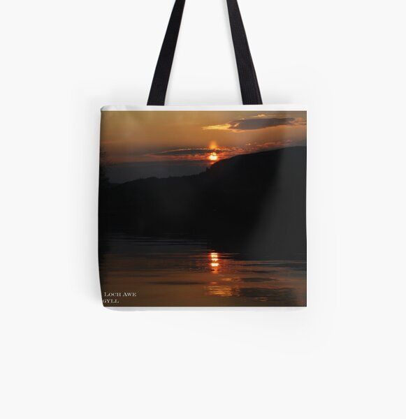 Sunset  Loch  Awe All Over Print Tote Bag