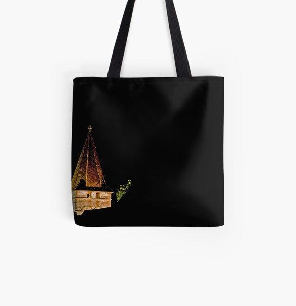 Steeple in Velvety Night All Over Print Tote Bag