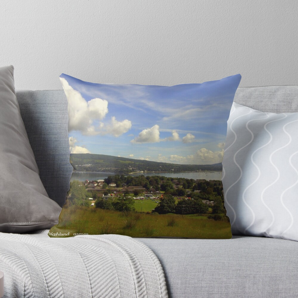 The  Location Throw Pillow