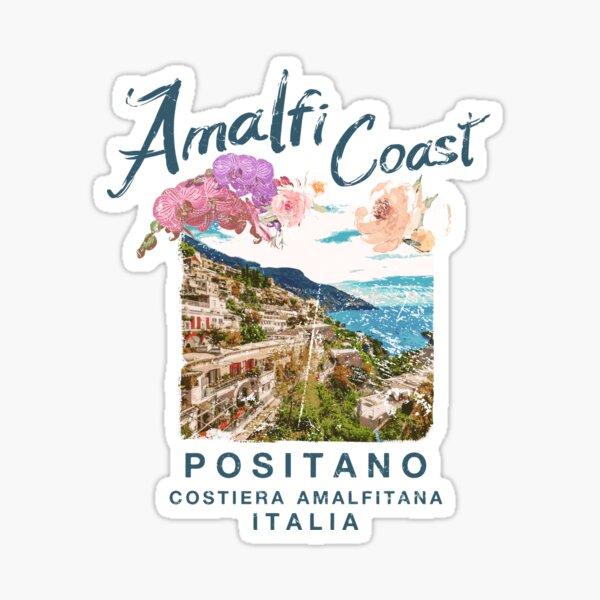 Costa de Amalfi Italia Positano Vintage Italia Pegatina