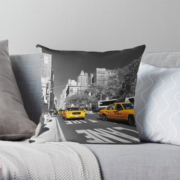 New York Taxi 2 Throw Pillow