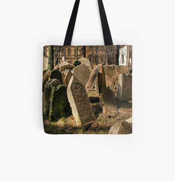 Tombstones All Over Print Tote Bag