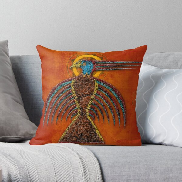 Sky Hawk Throw Pillow