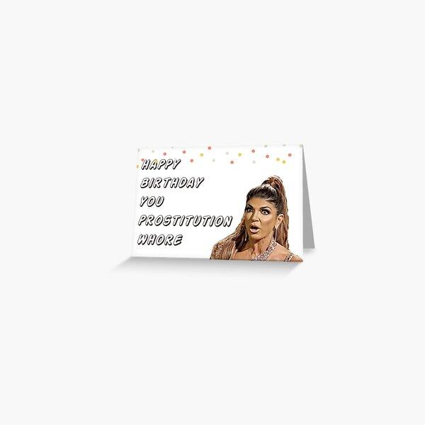 Real Housewives of New Jersey, Teresa Giudice Birthday Card, RHONJ, digital artwork Greeting Card